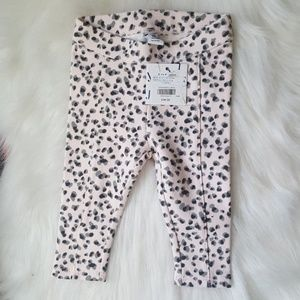 Janie and Jack Leopard Pink Ponte Pant 3-6 M AA11